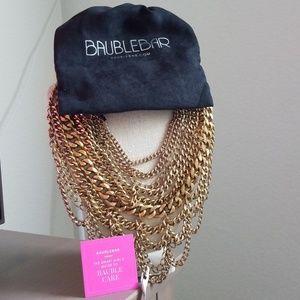 Baublebar gold courtney bib necklace